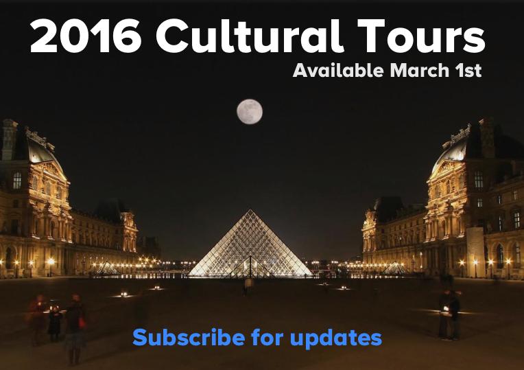 2016 Cultural Tour Notice